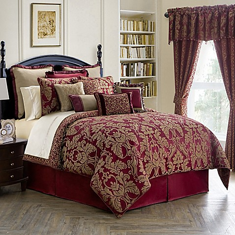 Waterford 174 Linens Athena Comforter Set In Ruby Bed Bath