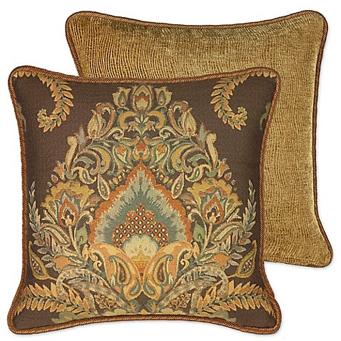 Rose Tree Decorative Pillows : Rose Tree Bayonne 18-Inch Square Throw Pillow in Brown - Bed Bath & Beyond