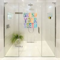 "Courtside Market Contour Art Elements ""Brush Your Teeth"" Shower Decal"