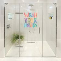 "Courtside Market Contour Art Elements ""Wash Your Hands"" Shower Decal"