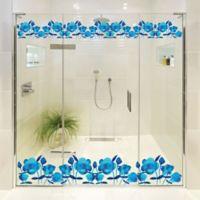 Courtside Market Contour Art Elements Blue Flower Shower Decal