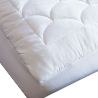 nikki chu lamis waterproof queen mattress pad in white