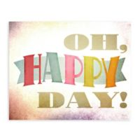 "Greenbox Art 18-Inch x 24-Inch ""Oh Happy Day"" Posters That Stick Wall Decal"