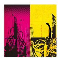 GreenBox Art Transmission Part 2 28-Inch x 28-Inch Wheatpaste Wall Art