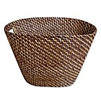 Baum Atlantic Hapao Rattan Wastebasket in Brown