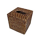 Baum Atlantic Hapao Rattan Boutique Tissue Box Cover in Brown