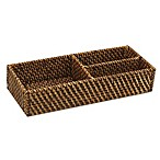 Baum Atlantic Hapao Rattan Divided Tank Tray in Brown