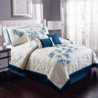Melrose 8-Piece Queen Comforter Set in Teal