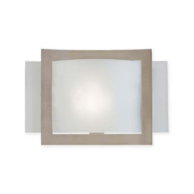 Etched Glass Wall Lights : Buy Minka Lavery 1-Light Wall Sconce in Brushed Nickel with Rectangular Etched Glass Shade from ...
