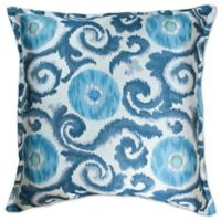 Sherry Kline Gajam Square Throw Pillow in Pool Blue
