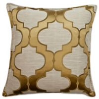 Sherry Kline Hutton Square Throw Pillow in Gold