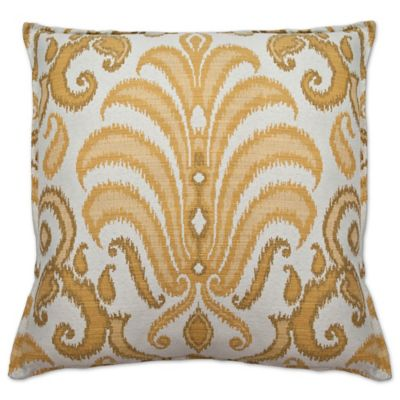 Sherry Kline Rustica Square Throw Pillow In Yellow