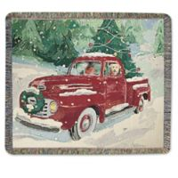 Cherry Red Truck Throw Blanket