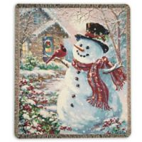 Snowman and Friend Throw Blanket
