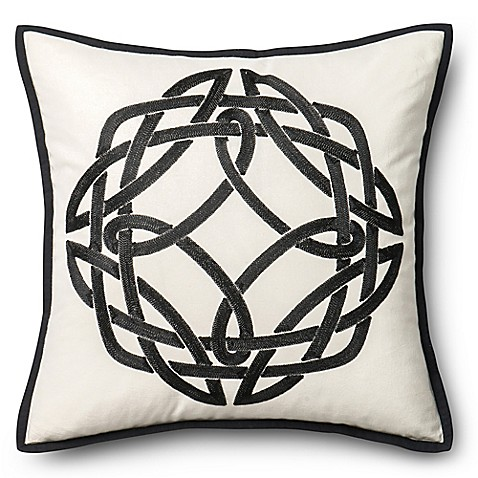 Modern Square Pillow Pull : Loloi Modern Medallion Square Throw Pillow - Bed Bath & Beyond