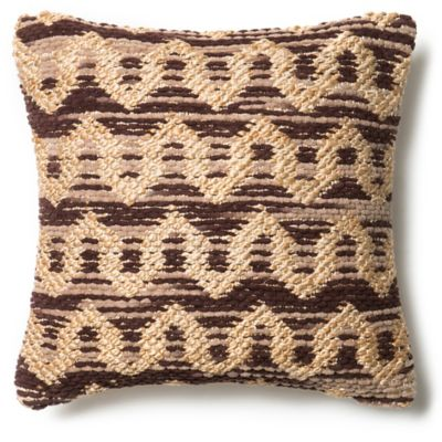 loloi michelle square throw pillow in brownbeige