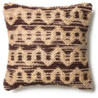 Loloi Michelle Square Throw Pillow in Brown/Beige