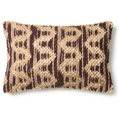 loloi michelle oblong throw pillow in brownbeige