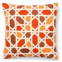 Geo Stars Square Down Throw Pillow