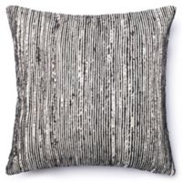 Loloi Multicolored Yarn Ribbed 22-Inch Square Throw Pillow in Black