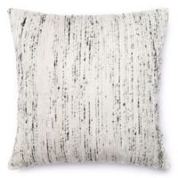 Loloi Multicolored Yarn Ribbed 22-Inch Square Throw Pillow in Silver