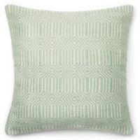 Loloi Persephone 22-Inch Square Throw Pillow in Aqua/Ivory