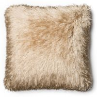 Loloi Shag Square Throw Pillow in Gold