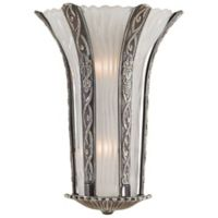 Metropolitan® 2-Light Wall Sconce in Platinum with White Murano Glass Shade