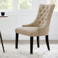 Madison Park Corbel Tufted Back Dining Chair in Cream (Set of 2)