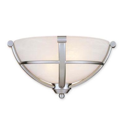 Minka Lavery Paradox 2-Light Wall Mount Wall Sconce in Brushed Nickel - Bed Bath & Beyond