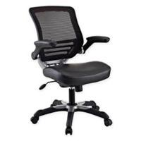 Modway Edge Vinyl Office Chair in Black