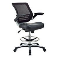 Modway Edge Drafting Chair in Black