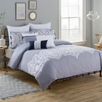 Royal Heritage Home Chelsea Twin Duvet Cover Set In Blue White