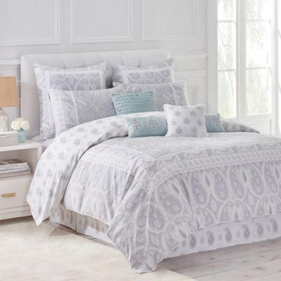 DenaTM Home Luna Reversible Full Queen Duvet Cover In Grey White