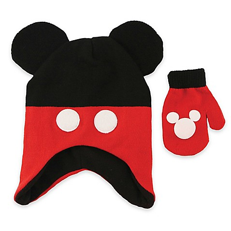 Mickey Mouse Hat And Mitten Set Bed Bath Beyond