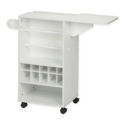 Honey Can Do® Rolling Craft Storage Cart In White