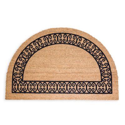 DeCoir® 24 Inch X 36 Inch Half Round Charleston Border Doormat