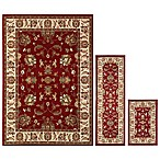 Oriental Weavers Windsor 3-Piece Area Rug Set in Red