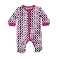 Coccoli Foulard & Tweed Size 9M Footie in Pink
