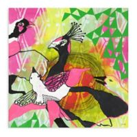 "Greenbox Art Jessica Swift 18-Inch x 18-Inch ""Flock"" Wheatpaste Poster"
