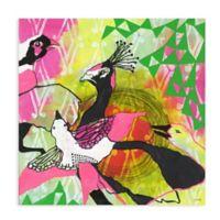 "Greenbox Art Jessica Swift 28-Inch x 28-Inch ""Flock"" Wheatpaste Poster"