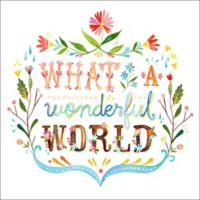 GreenBox Art™ Wonderful World 18-Inch Wall Art