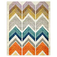 "Greenbox Art Stephanie Sliwinski 18-Inch x 24-Inch ""Wooden Chevron Stack"" Wheatpaste Poster"