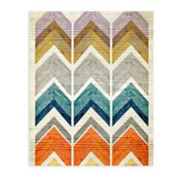 "Greenbox Art Stephanie Sliwinski 28-Inch x 35-Inch ""Wooden Chevron Stack"" Wheatpaste Poster"