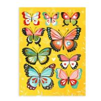 "Greenbox Art Katie Daisy 18-Inch x 24-Inch ""Yellow Butterfly"" Wheatpaste Poster"