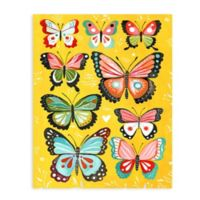 "Greenbox Art Katie Daisy 28-Inch x 35-Inch ""Yellow Butterfly"" Wheatpaste Poster"