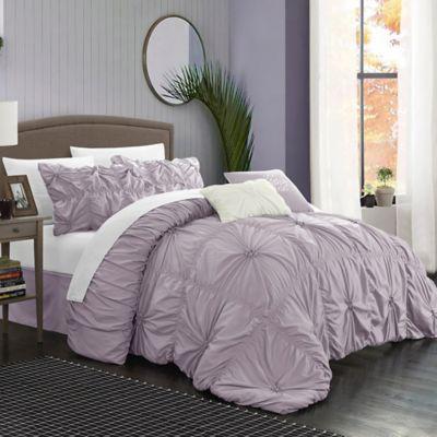 chic home hilton 6piece queen comforter set in lavender