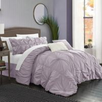 Chic Home Hilton 6-Piece Queen Comforter Set in Lavender