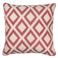 KAS Diamonds 18-Inch Square Throw Pillow in Red