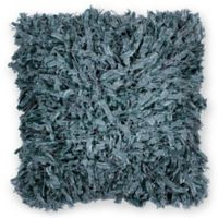 Kas Shimmer Shaggy 18-Inch Square Throw Pillow in Teal